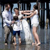 Salon Tryst's Wedding Mud Fight Featured on Huffington Post